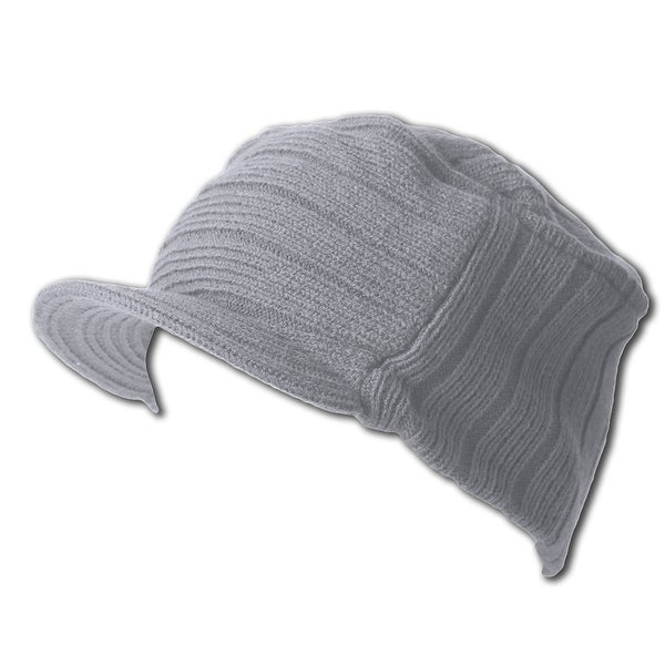 0f4160bdfc1 Shop Grey Winter Flat Top Jeep Cap Hat - Free Shipping On Orders Over  45 -  Overstock - 16947489