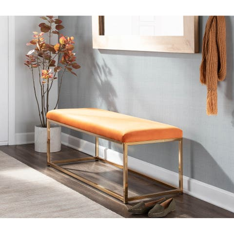 Zenn Contemporary Velvet Bench - N/A