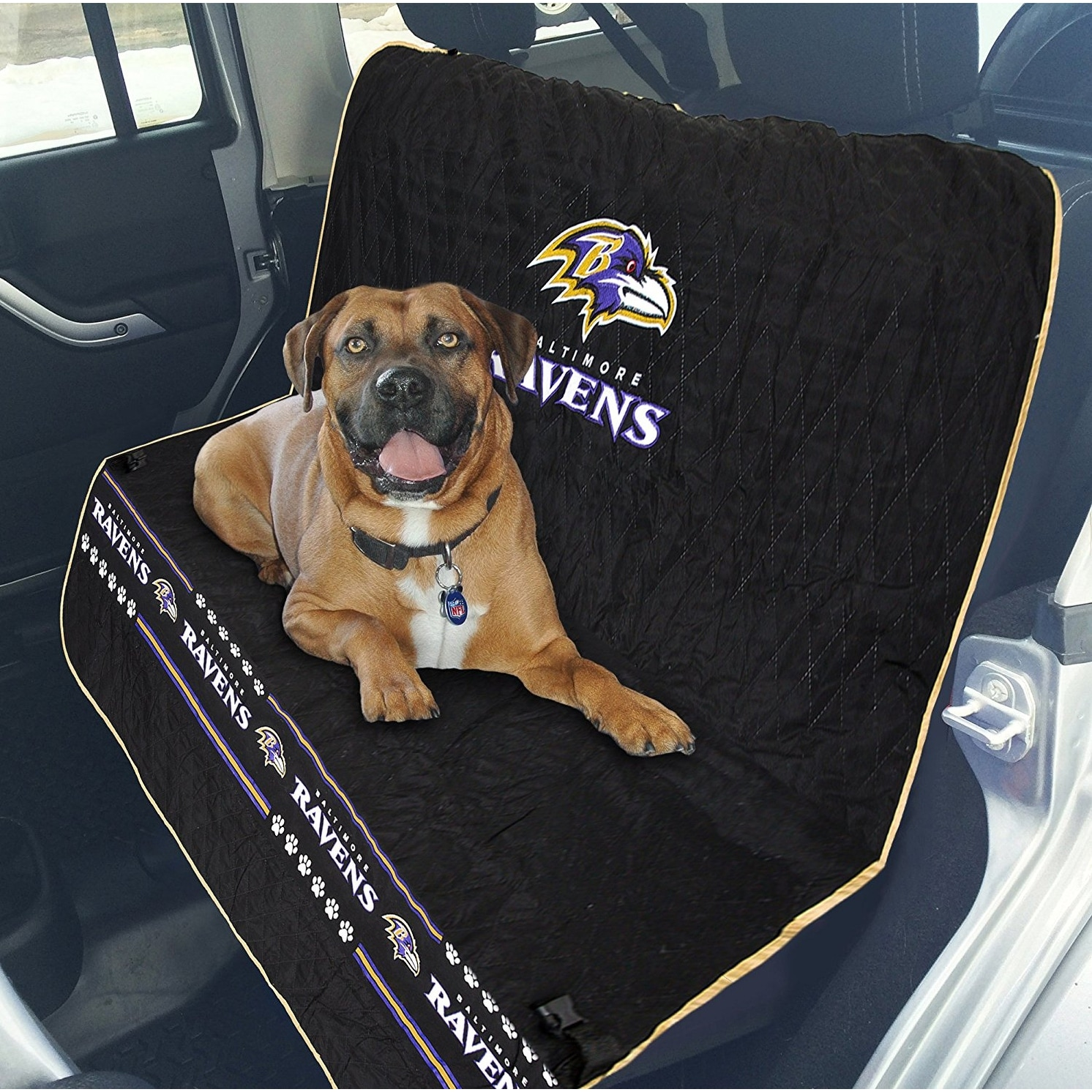 Pet Car Seat Covers >> Shop Pets First Nfl Baltimore Ravens Pet Car Seat Cover Free