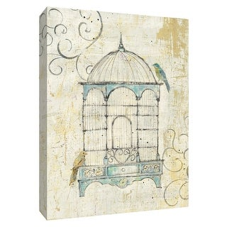 """PTM Images 9-154907  PTM Canvas Collection 10"""" x 8"""" - """"Bird Cage IV"""" Giclee Birds Art Print on Canvas"""