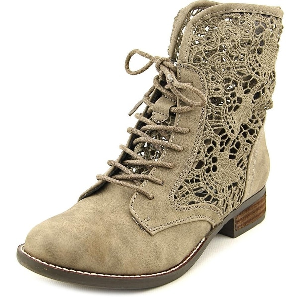 Not Rated Jakobe Women Round Toe Synthetic Gray Ankle Boot
