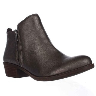 Lucky Brand Basel Side Zip Ankle Boots, Old Pewter