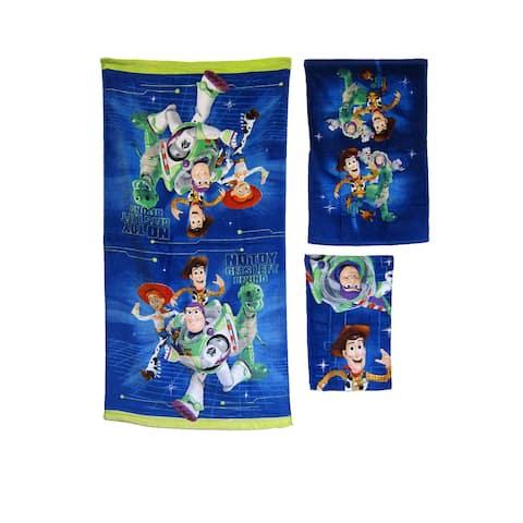 DISNEY KIDS BATHROOM BATH TOWEL 3PC SET CARTOONS CHARACTERS Boys Toy Story