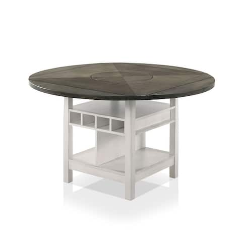 Furniture of America Drov Transitional 60-inch Expandable Counter Table