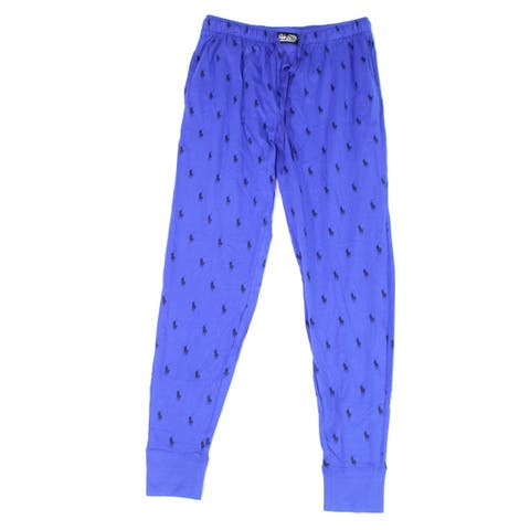 Lauren By Ralph Lauren Mens Sleepwear Blue Size Medium M Lounge Pants