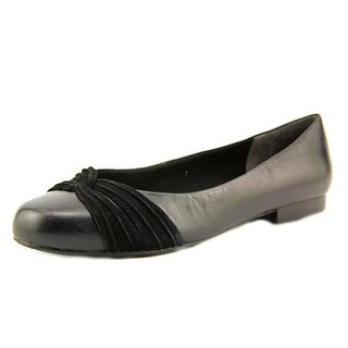 Ros Hommerson Onya Women Round Toe Leather Black Flats