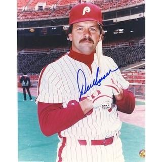 Autographed Del Unser Philadelphia Phillies 8x10 Photo