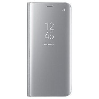 Samsung S-View Flip Cover Clear for Samsung Galaxy S8 - Silver S-View Flip Cover Clear for Samsung Galaxy S8