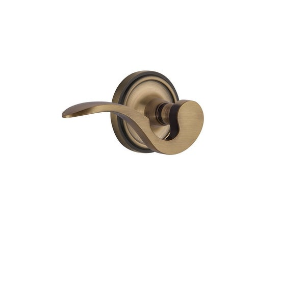 """Nostalgic Warehouse CLAMAN_PRV_238_NK_RH Manor Right Handed Privacy Door Lever Set with Classic Rose for 2-3/8"""" Backset Doors"""