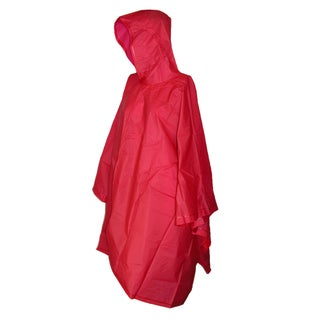 Totes Hooded Pullover Rain Poncho with Side Snaps - One size (Option: Red)