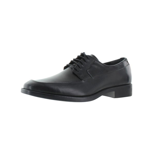 Calvin Klein Mens Elroy Oxfords Leather Moc Toe