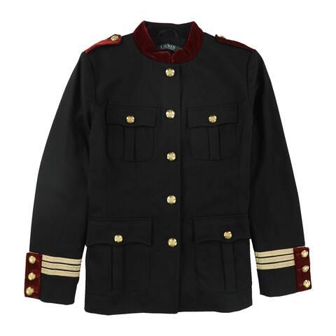 Ralph Lauren Womens Adriene Military Jacket, Black, 10