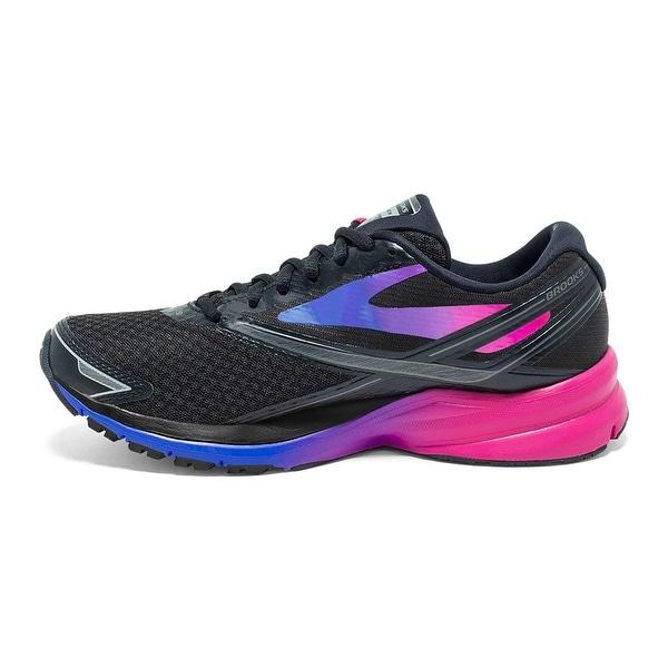 73af33065d7 ... Women s Athletic Shoes. Brooks Women  x27 s Launch 4 Black Fuchsia  Purple Dazzling Blue 7.5