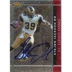 Steven Jackson St Louis Rams 2007 Topps Finest Autographed Card Nice Card This item comes with a