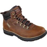 Skechers Men's Relaxed Fit Segment Ander Boot Dark Brown