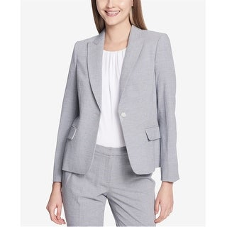 Link to Calvin Klein Womens Seersucker One Button Blazer Jacket, Blue, 8 Similar Items in Suits & Suit Separates