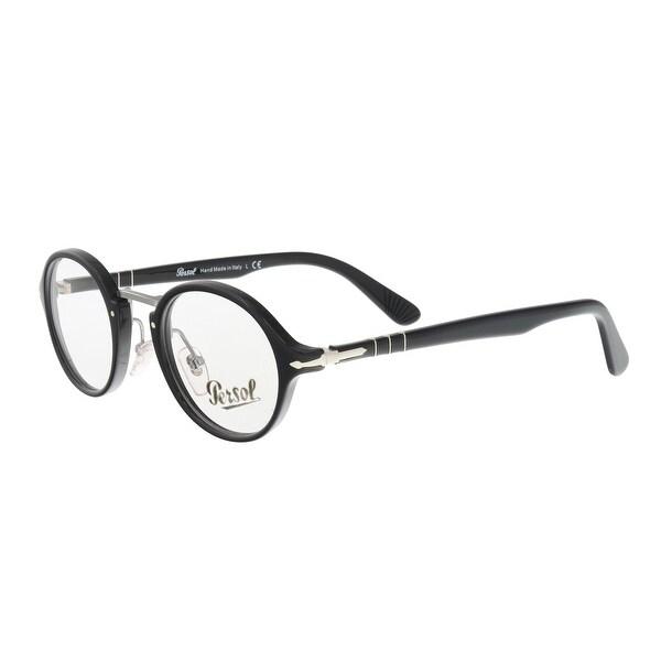 dce15e3e962 Shop Persol PO3128V 95 Black Round Optical Frames - 44-22-145 - Free ...