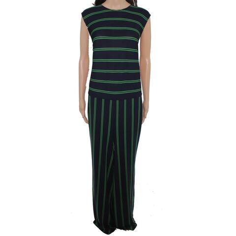 Lauren by Ralph Lauren Women's Jumpsuit Green Size 3X Plus Striped