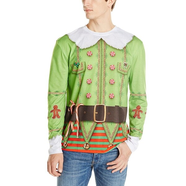 ugly christmas sweater elf sweater green - Ugly Christmas Sweater Elf