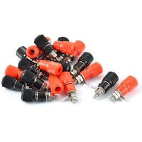 Unique Bargains 20pcs Black Red Metal Body Speaker Amplifier 4mm Banana Plug Jack Binding Post
