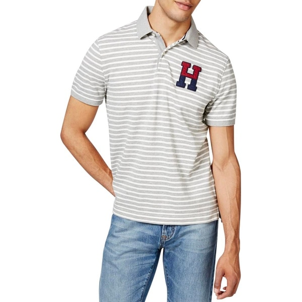 0fa9caec Shop Tommy Hilfiger Mens Polo Shirt Pique Striped - L - Free Shipping On  Orders Over $45 - Overstock - 18758141