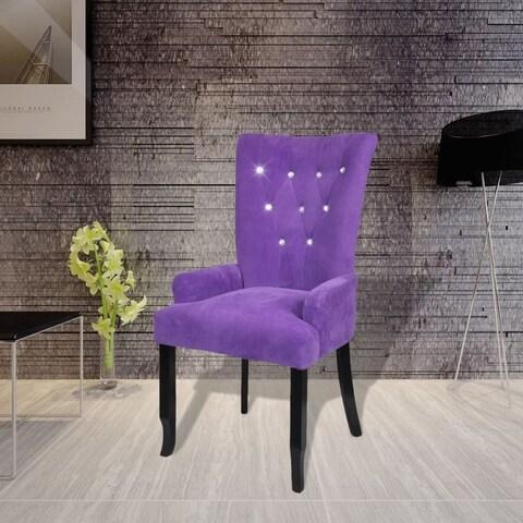 vidaXL Luxury Armchair Velvet-coated Purple