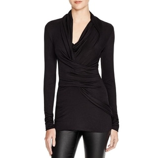 Dylan Gray Womens Pullover Top Ruched Long Sleeves