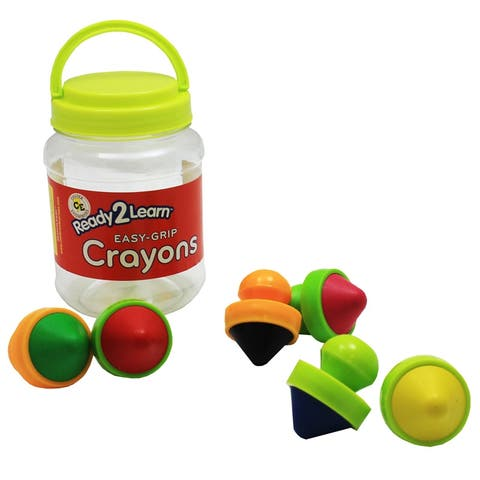 Ready2Learn Easy Grip Crayons, 6 Per Set, 2 Sets