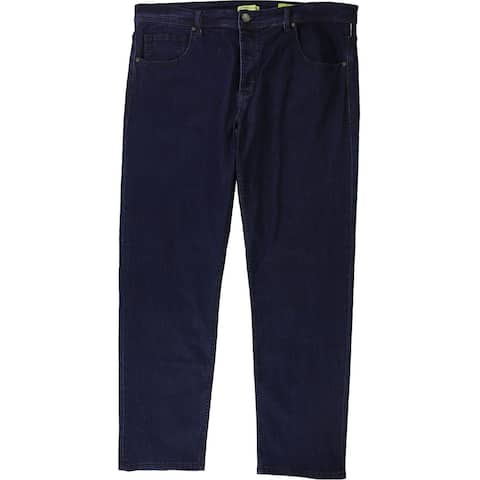 Versace Mens Solid Straight Leg Jeans