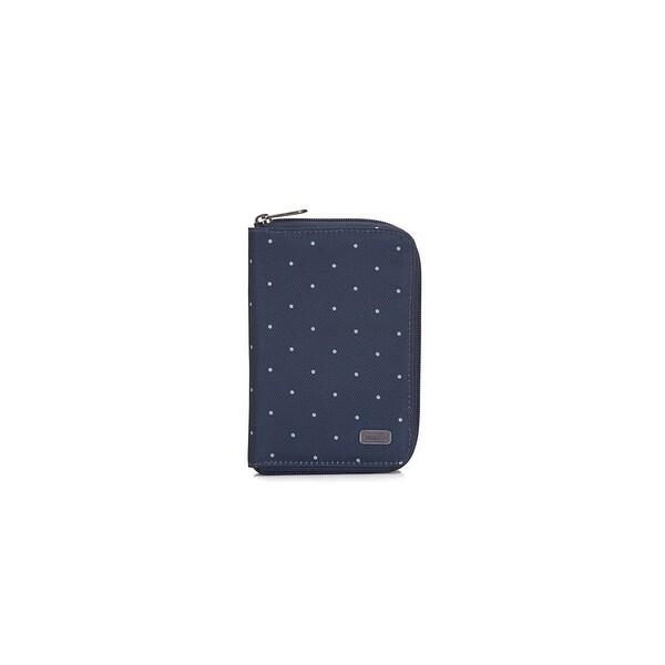 Daysafe Passport Wallet - Navy Polka Dot RFID Blocking Passport Wallet