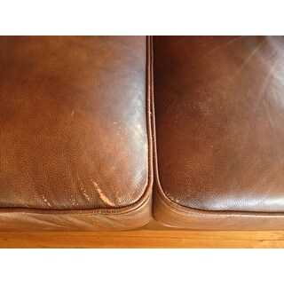 ... Abbyson Tuscan Tufted Top Grain Leather 3 Piece Sectional Sofa