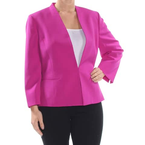 LE SUIT Womens Purple Flyaway Wear to Work Jacket Size 14