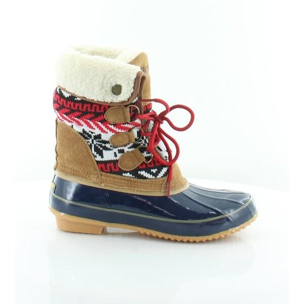 Khombu Jenna Women's Boots Navy/Tan
