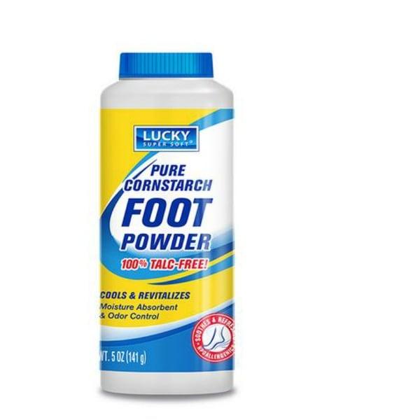 Lucky Super Soft 11367-12 Pure Cornstarch Foot Powder, 5 Oz