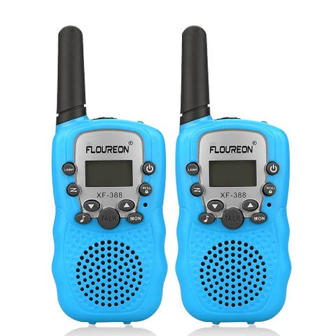 FLOUREON 22 Channel Walkie Talkies FRS/GMRS 462-467MHZ 2-Way Radio 3 Km Range Blue US