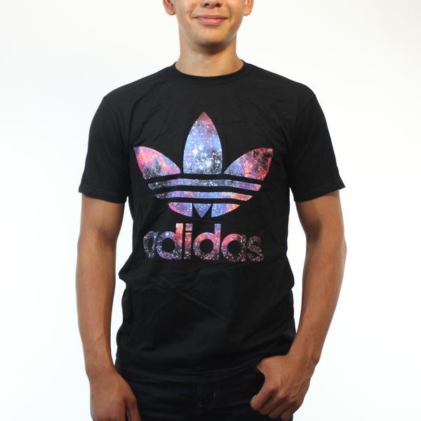 Adidas Originals Trefoil Galaxy Logo Men's Black T-Shirt