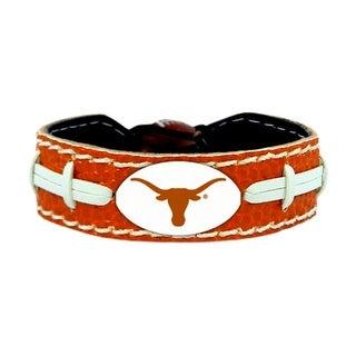 Texas Longhorns Team Color NCAA Gamewear Leather Football Bracelet