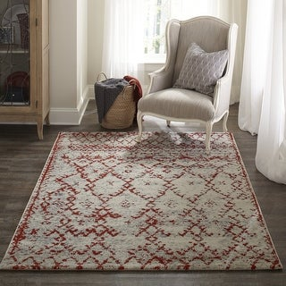 "Momeni Loft Machine Made Polypropylene Rust Area Rug - 7'10"" x 9'10"""
