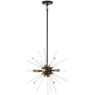 "Kovacs P1791-416 Spiked 6 Light 18"" Wide Pendant with Clear Glass Bar Accents"