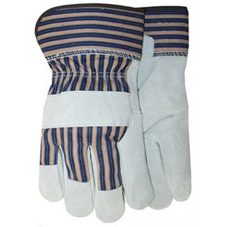 Midwest 7733K Heavyweight Suede Cowhide Leather Work Gloves, Kids