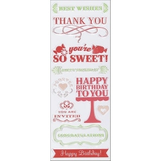 """Martha Stewart Clear Stamps 2.5""""X7""""-All Occasions"""