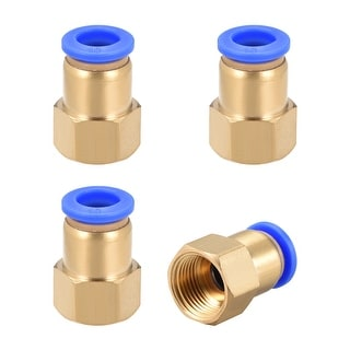 "3/8"" G Female Straight Thread 10mm Push In Joint Pneumatic Quick Fittings 4pcs - 3/8"" G x 10mm"
