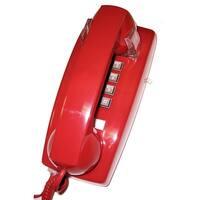Cortelco ITT-2554-V-RDM 255447-VBA-20M Wall w/ Volume RED