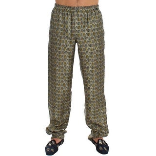 Dolce & Gabbana Dolce & Gabbana Green SILK Pajama Lounge Pants - L