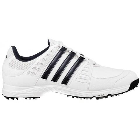 Adidas Juniors Tech Response 3.0 White/Dark Steel Metallic Golf Shoes 675369
