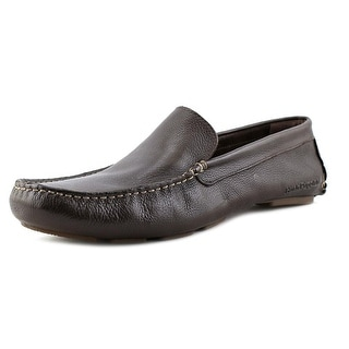 Hush Puppies Monaco Slip On MT Men  Moc Toe Leather Brown Loafer