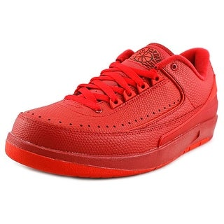 Jordan Air Jordan 2 Retro Low Men  Round Toe Synthetic Red Sneakers