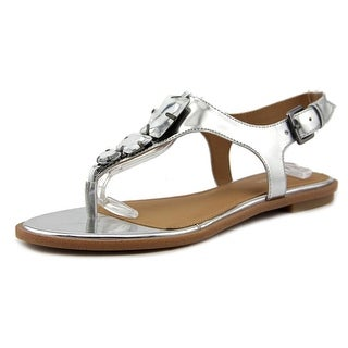 Calvin Klein Ultima Open Toe Leather Thong Sandal