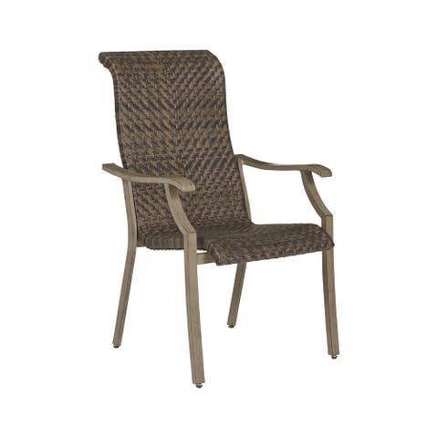 Windon Barn Outdoor Arm Chair - Set of 4 - Brown - N/A