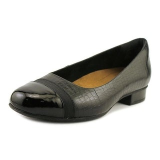 Clarks Keesha Rosa Women Square Toe Leather Black Flats